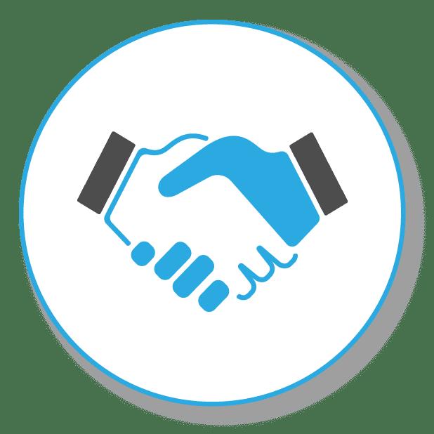 Zwei schüttelnde Hände, in Oberschwaben gilt noch ein Wort per Handschlag im SEO Geschäft