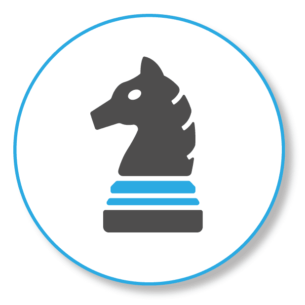 SEO is like chess, picture shows a horse from chess