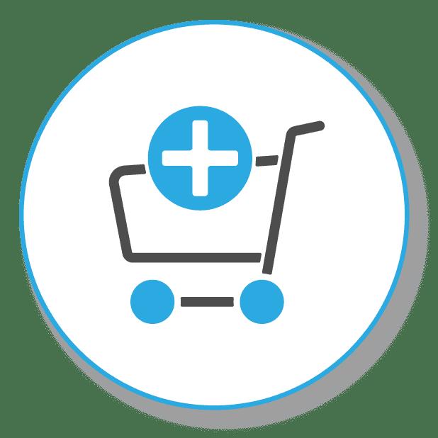 SEO für ecommerce, Bild zeigt einen Einkaufswagen