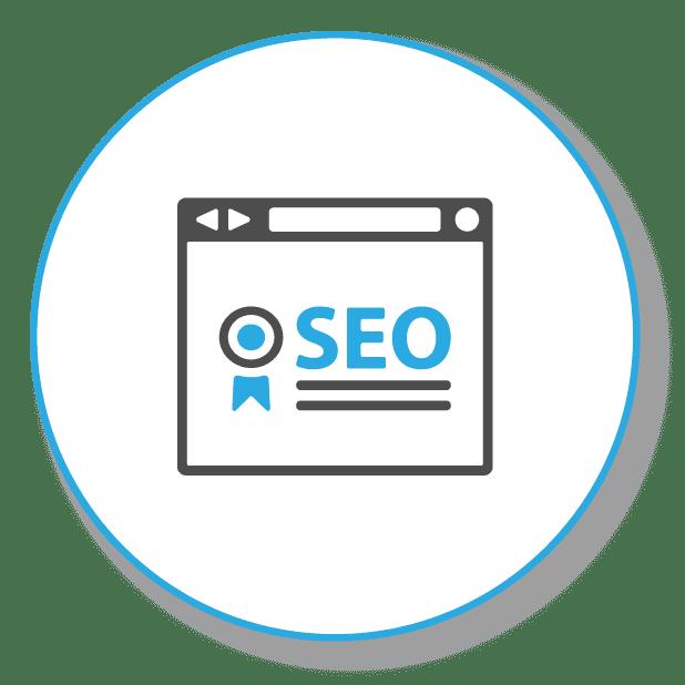SEO Symbol on a webpage