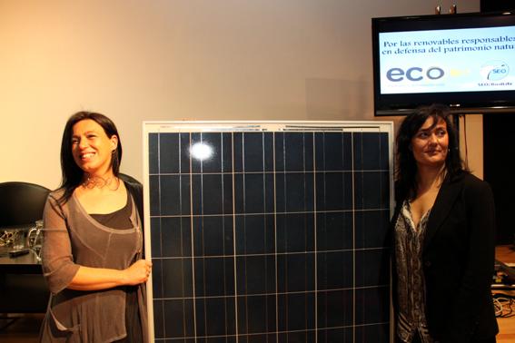 Cote Romero, directora de Ecooo, y Asunción Ruiz, directora ejecutiva de SEO/BirdLife