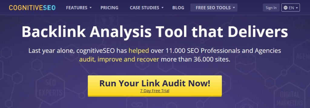 CognitiveSEO Backlink Analysis Tool