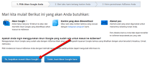 daftar adsense klik google