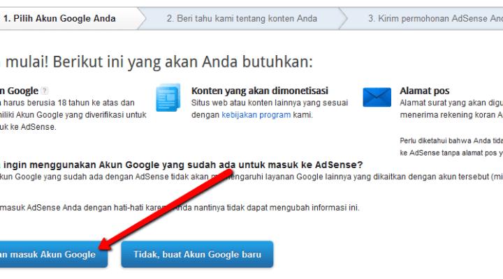 Cara Cepat Mudah Mendaftar Dan Diterima Google Adsense