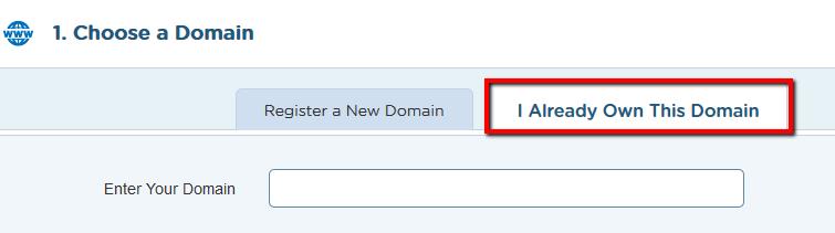 pilih domain hostgator