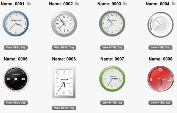 pilihan jam untuk di blog