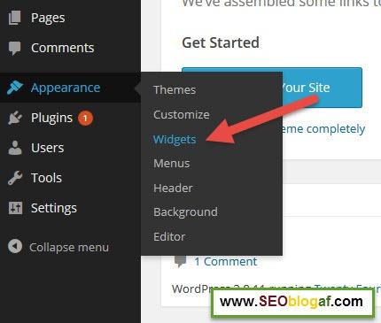 Cara Menambahkan Widget di Blog WordPress
