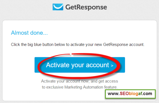 konfirmasi email getresponse