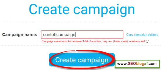masukkan nama campaign getresponse