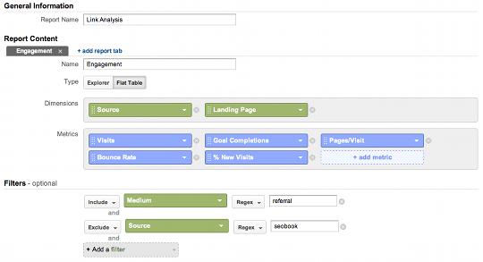 Link Analysis Custom Report