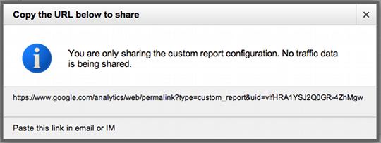 Sharing Custom Reports