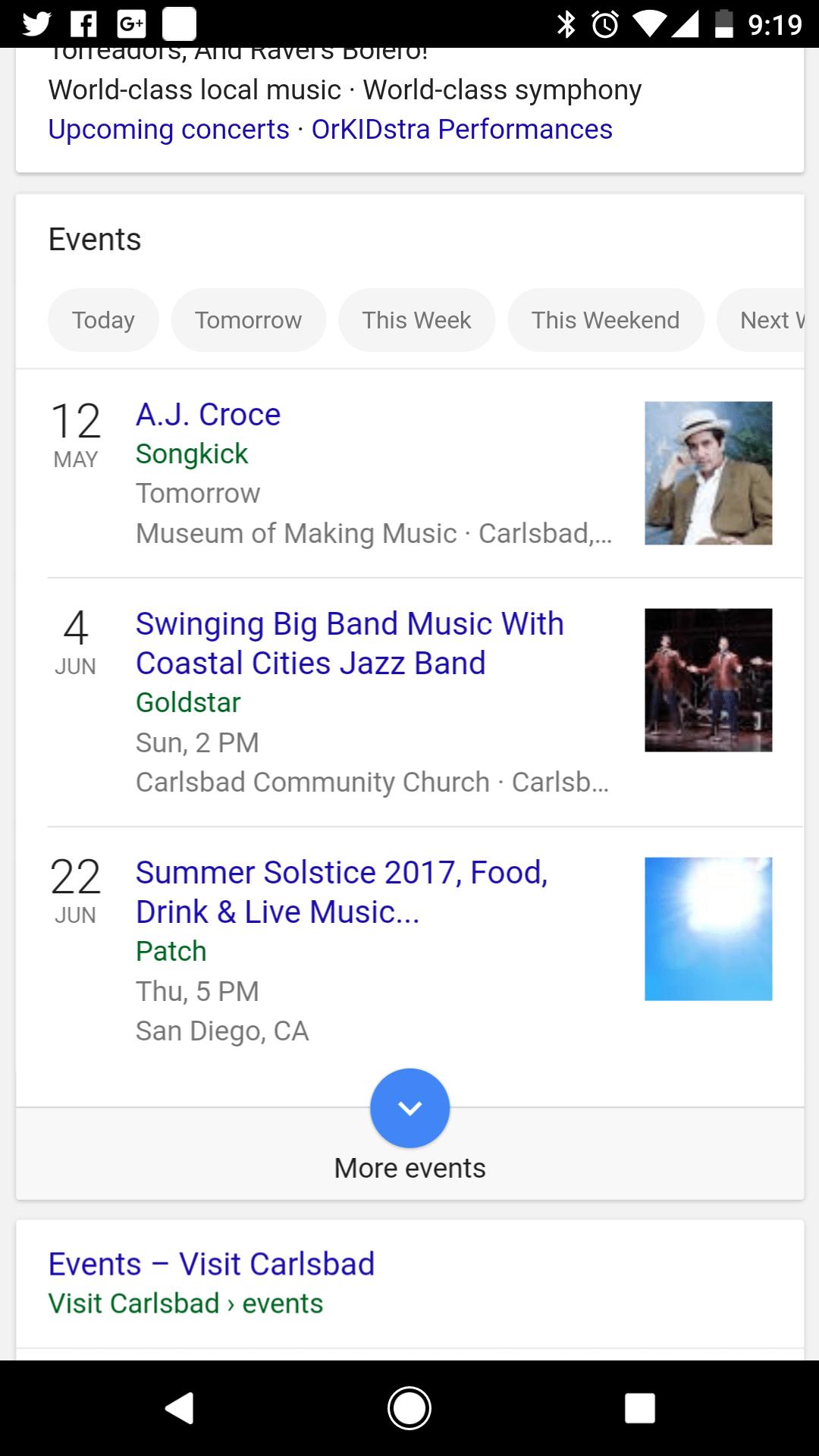 Google Music Events Near Me
