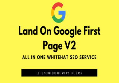 Land on Google 1st page with High DA Web2.0 Backlinks v2