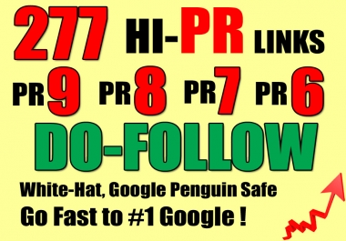Get You 277 PR9 to PR6 Websites Where You Can Easily Leave Your BACKLINKS