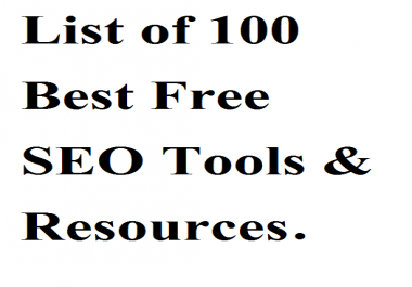 List of 100 Best Free SEO Tools & Resources