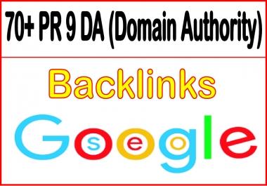 Get you 70+ PR 9 DA (domain authority) Backlinks