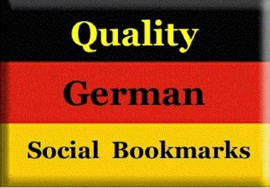 provide 35 German quality backlinks, from german high PR social bookmarking site