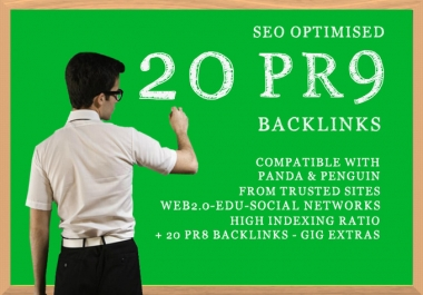 CREATE 20 PR9 Backlinks from AUTHORITY, google youtube friendly sites