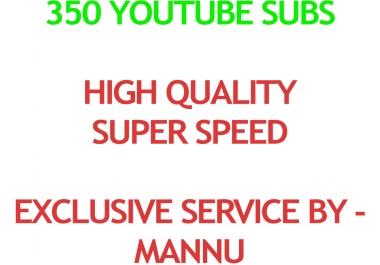 Real 350 Youtube Subs cribers