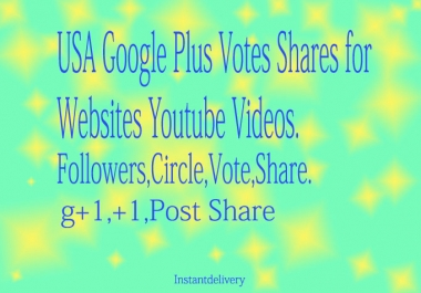 115+ USA base Google Plus Circle Follow