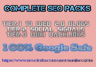 Build link wheel using top 10 web2 sites with social signal and wikis best 4 Seo