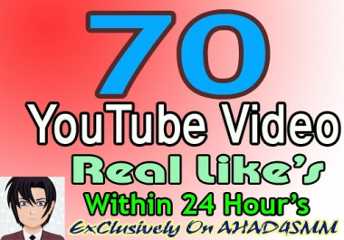 Add 70 YouTube Video Likes Within 24 Hours