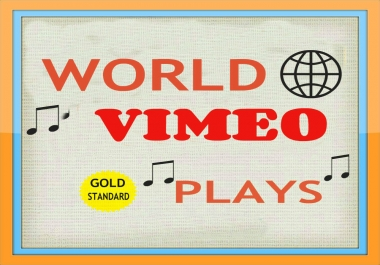 I WILL GIVE 100,000 PLUS VIMEO  PROMOTION