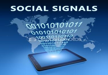 1000 High Quality PR9-PR10 Social Signals Backlink from 2 BEST Social Media website