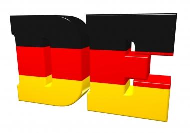 60000 German visitors traffic for 30 days