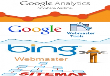 I will install google analytics googel sitemap and set webmaster tool account to your site or Blog