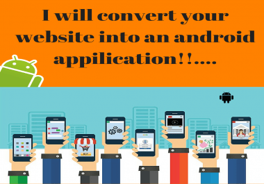 convert your website into Android App and upload it to playstore