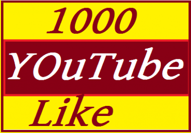 1000+ YouTube L ikes supper  Fast  3 hours delivered