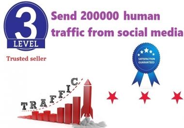 Send 200000+ Human Traffic by Google Twitter Youtube etc