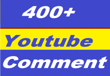 400+ YouTube Comments Auto or 1500+ YouTube Likes Very Fast