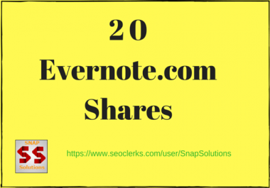 Bring You 20 Evernote.com App Shares Manually For Your URL