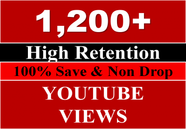 Get 4000 to 5000 youtube views REAL HUMAN OR 5,00+ youtube Likes