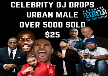 CELEBRITY DJ DROPS - URBAN MALE - 8 CELEBRITY DJ DROPS (JAY Z, 50, DJ KHALID...)