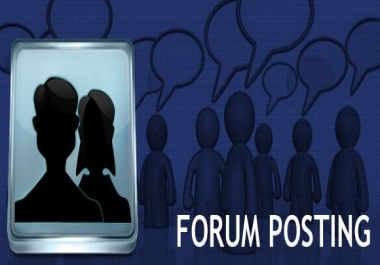 15 quality posts on your forum.