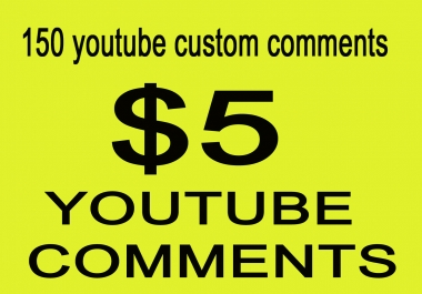 Special offer  USA/UK/GERMANY 150+ youtube custom comments