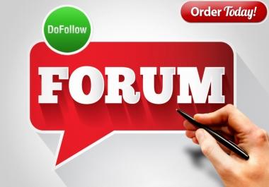 Provide 20 Forum Signature & Profile Backlink Manually Pr9 To Pr6