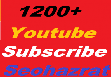 500+ YouTube Subscribers non drop Guaranteed or 1400+ YouTube  Likes or 200 Custom Comments