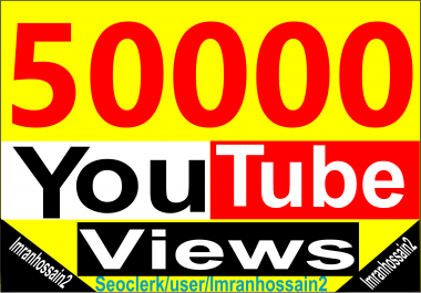 Professional Service Supper Fast 50k+/55,000+ Nondrop High Retention HQ Youtube Video Vie ws Life time Guaranteed