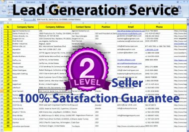 I Can Do Lead Generation Web Research, Scraping, Data Mining,Lead Generation And Targeted Email List