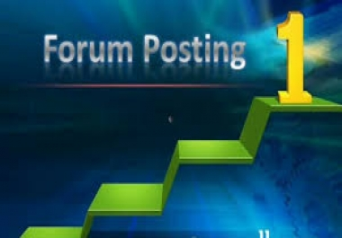 10 High Authority forum posting backlinks