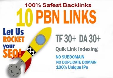 10 Manual Home Page  TF CF DA PA 30+ PBN Backlinks