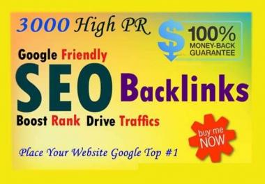 I will do 2500 Do-follow High PR4-PR7 Backlinks