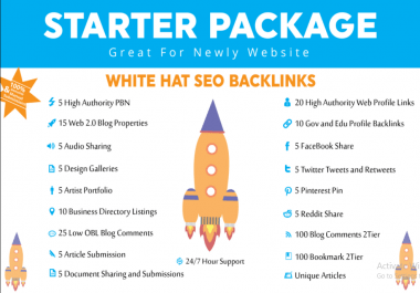 Provide you White Hat SEO Package