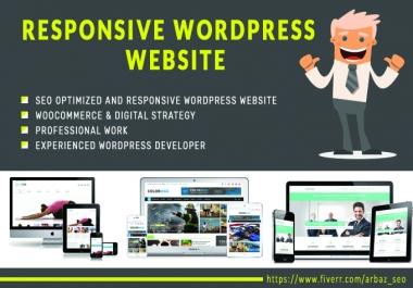 Design A Professional And Responsive Wordpress Website