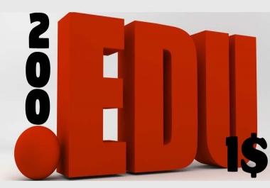 200+ .edu Backlinks Provide now