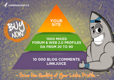 Link Pyramid with 1000 Mixed Profiles and 10 000 Blog Comments